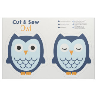 Cut & Sew Owl - Blue Fabric