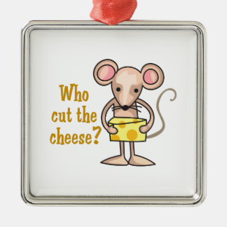 Cut The Cheese Silver-Colored Square Decoration