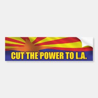 Cut the Power to L.A. - Support SB1070 Bumper Sticker