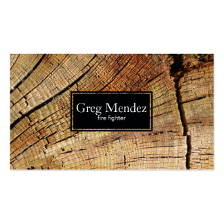 Cut Wood Pack Of Standard Business Cards