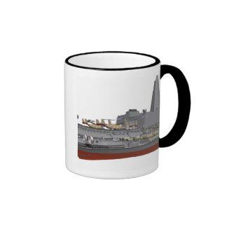 Cutaway illustration ringer coffee mug