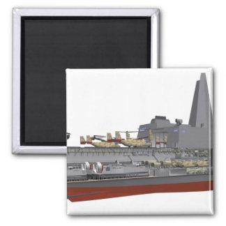 Cutaway illustration square magnet