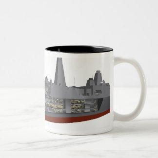 Cutaway illustration Two-Tone coffee mug