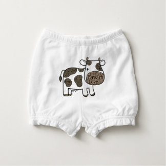 Cute 0-3M with cow Nappy Cover