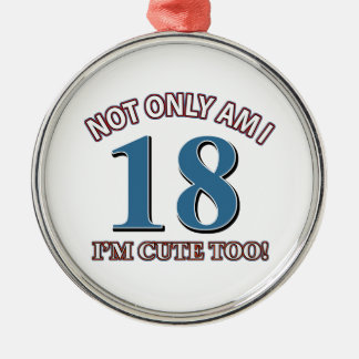cute 18 year old design christmas ornament
