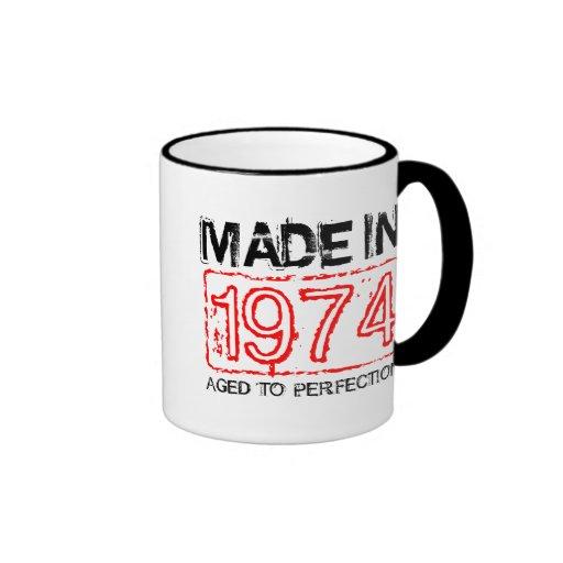 Cute 1974 Aged to perfection coffee mug