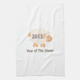 Cute 2015 Year of the Sheep Design Tea Towel