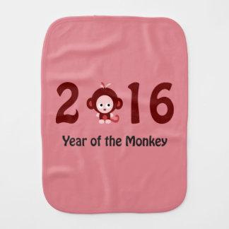 Cute 2016 year of the monkey burp cloth