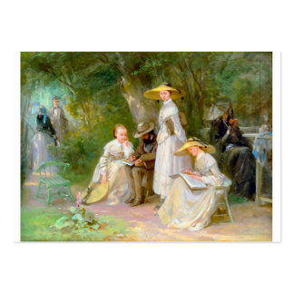 Cute 3 5x2 5 Business Card with 19th c Painting