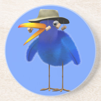 Cute 3d Australian Bird editable Drink Coaster