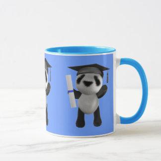 Cute 3d Baby Panda Graduate (editable) Mug