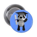 Cute 3d Baby Panda Graduate (editable) Pin