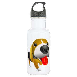 Cute 3d Basset Hound Dog 532 Ml Water Bottle