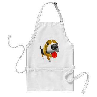 Cute 3d Basset Hound Dog Adult Apron