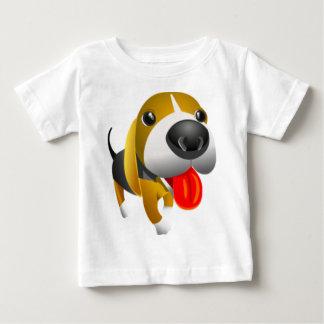 Cute 3D Basset Hound Dog Baby T-Shirt