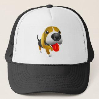 Cute 3d Basset Hound Dog Trucker Hat