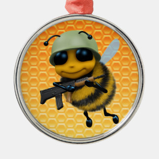 Cute 3d Bee Soldier Christmas Ornament