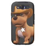 Cute 3d Cowboy Dog Sheriff Samsung Galaxy SIII Cover
