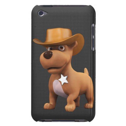 Cute 3d Cowboy Dog Sheriff iPod Case-Mate Case