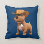 Cute 3d Cowboy Dog Sheriff Pillows