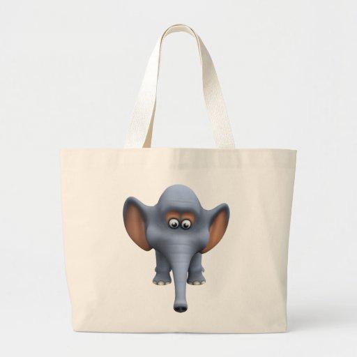 Cute 3d Elephant Jumbo Tote Bag