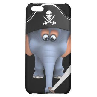 Cute 3d Elephant Pirate (editable) iPhone 5C Cover