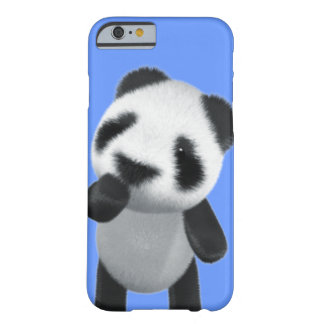Cute 3d Panda Thinks (editable) Barely There iPhone 6 Case