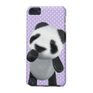 Cute 3d Panda Thinks (editable) iPod Touch 5G Covers
