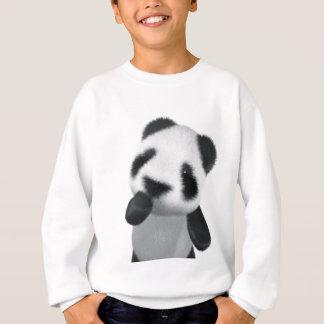 Cute 3d Panda Thinks (editable) Sweatshirt