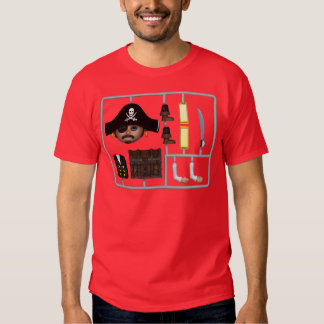 Cute 3d Pirate construction kit Tees