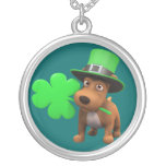Cute 3d Puppy Dog with Shamrock (editable)