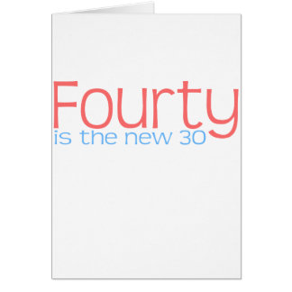 Cute 40 is the new 30 design greeting cards