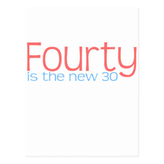 Cute 40 is the new 30 design postcard