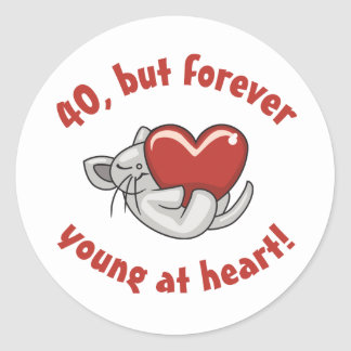 Cute 40th Birthday Gifts Stickers