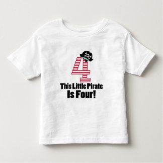 Cute 4th Birthday Pirate Themed Toddler T-Shirt