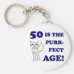 Cute 50th Birthday Present Keychain