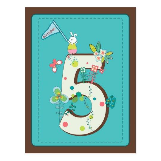 cute 5 birthday card