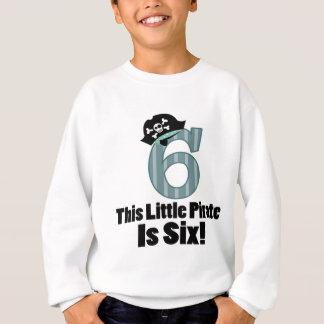 Cute 6th Birthday Pirate Sweatshirt