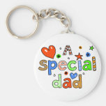 Cute A Special Dad Greeting Text Expression Keychain