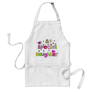 Cute A Special Daughter Greeting Text Expression Standard Apron