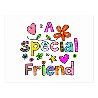 Cute A Special Friend Greeting Text Expression Postcard