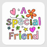Cute A Special Friend Greeting Text Expression Stickers