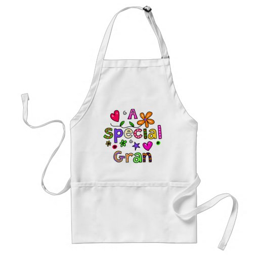 Cute A Special Gran Greeting Text Expression Aprons