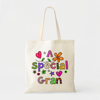 Cute A Special Gran Greeting Text Expression Tote Bag