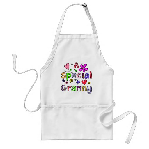 Cute A Special Granny Greeting Text Expression Apron