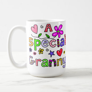 Cute A Special Granny Greeting Text Expression Basic White Mug