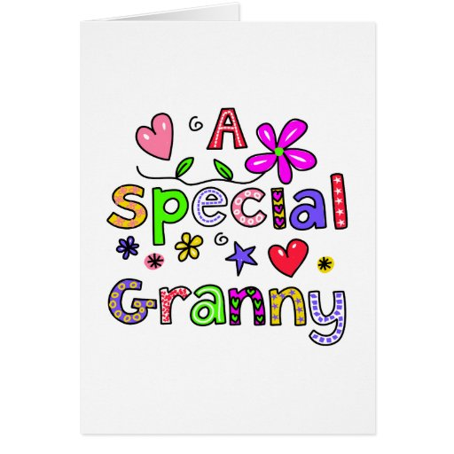 Cute A Special Granny Greeting Text Expression Greeting Cards