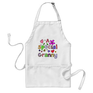Cute A Special Granny Greeting Text Expression Standard Apron