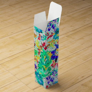 Cute abstract floral pattern wine bottle boxes