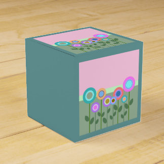 Cute Abstract Flowers Favour Box